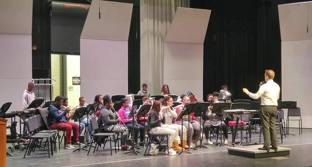 Westwood Wind Ensemble in rehearsal