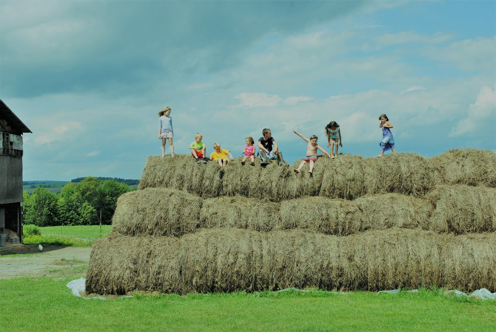 3rd generation Quicks on the family farm (including my kiddos) in Maine NY