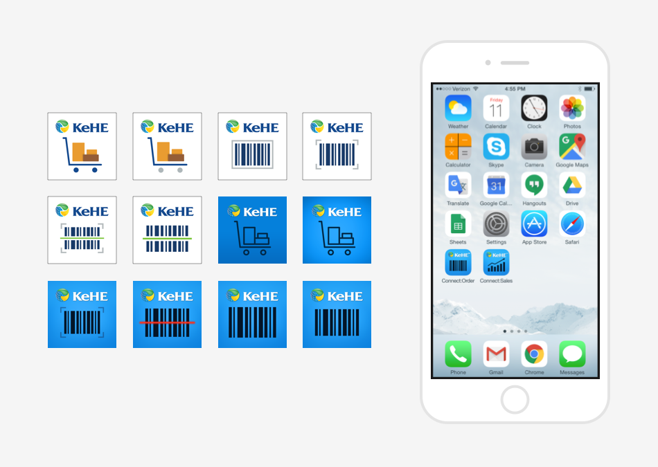 App icon iterations.