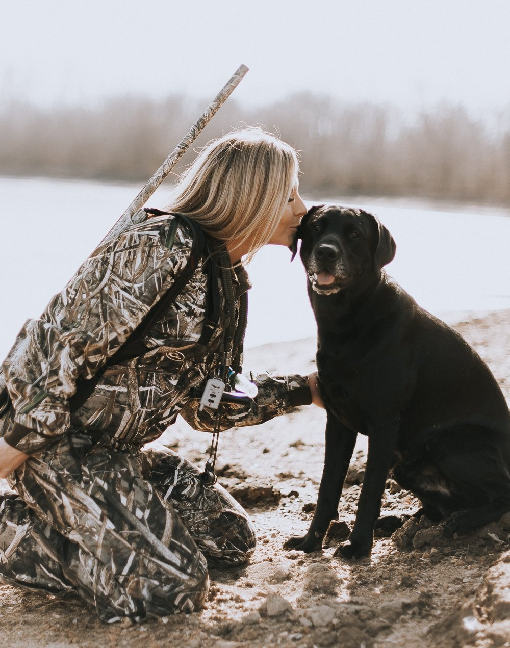 """Kate Galati - """"I couldn't be more thankful to have had OV photography take some amazing pictures of me and my black lab. 💗 The love and passion that Vasva has while taking my photos was amazing. I can't thank you enough!!I highly recommend OV Photography for any special moments you need captured!"""""""