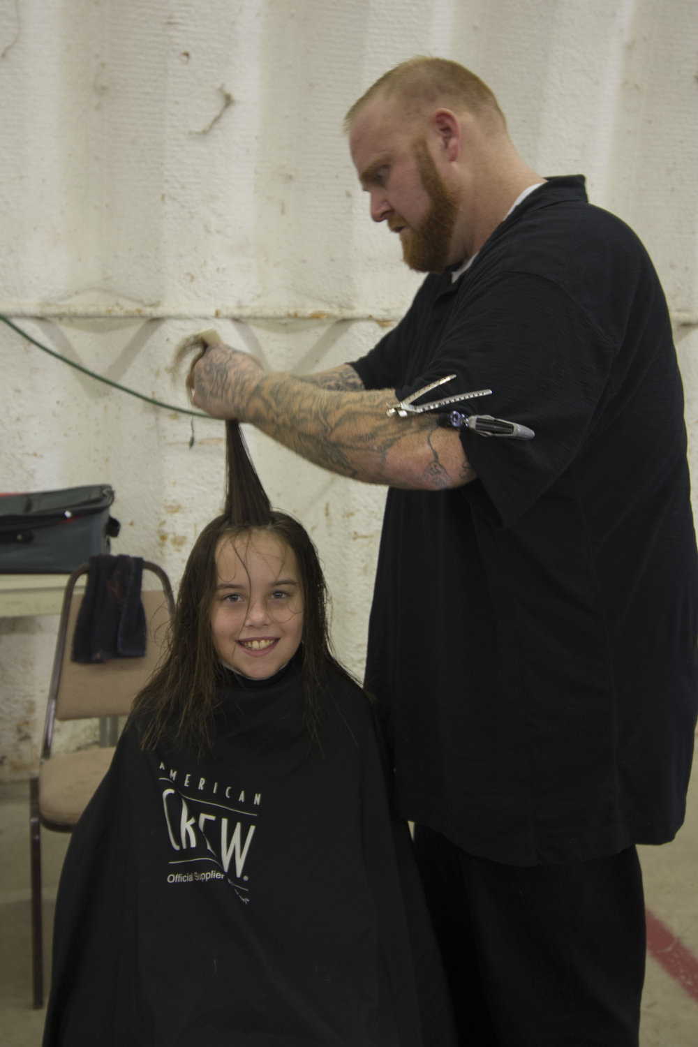 Thank you to the stylists at the Spivey Lane Salon in Roanoke for donating your services and providing free haircuts.