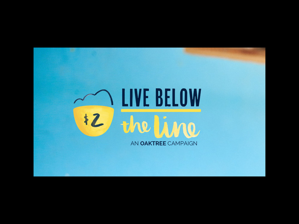 2017 Creative Director of national campaign, Live Below the LineLogo and identity development -