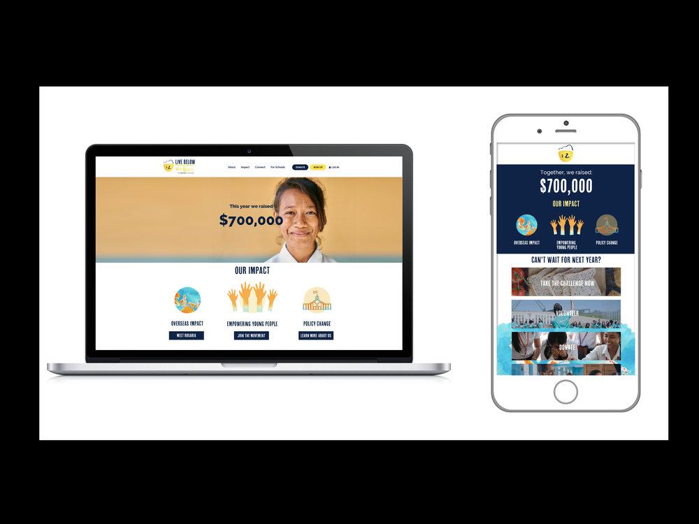 Website and digital design, desktop and mobile -