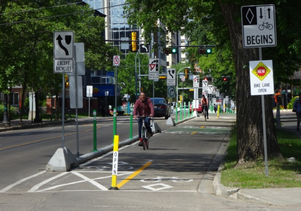 Downtown Bike-lanes and Extensive Signage -  John Robertson, CBC