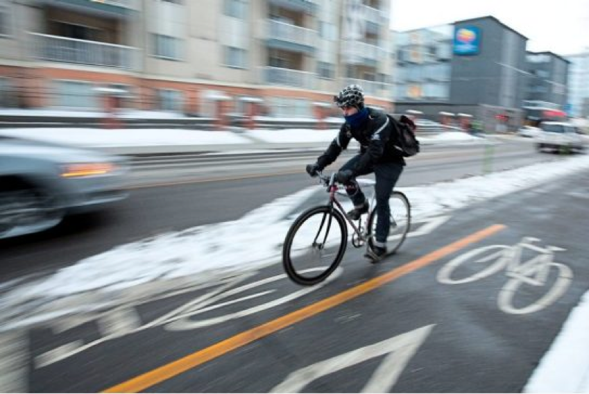 Downtown Winter Bike-Lanes -  Kevin Tuong