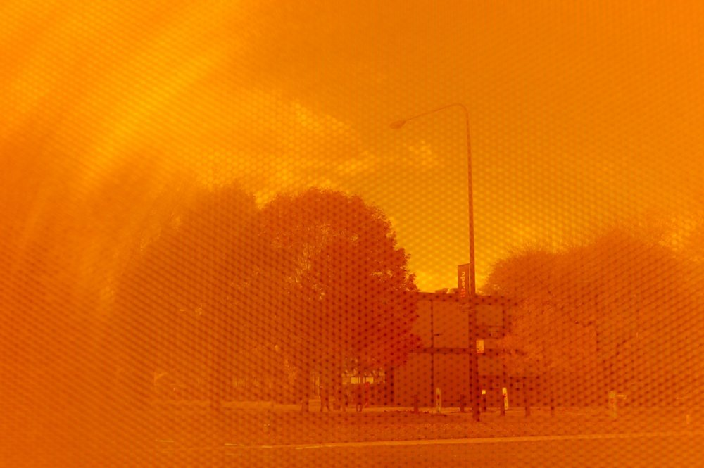 Through the orange-colored glass of Koolhaas, Mies' rigid old buildings soften, gaining back some of their youthfulness.