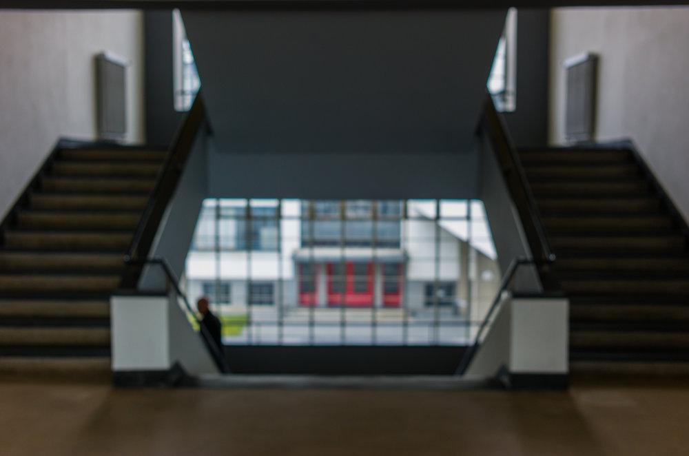 Figure on Stairway: Bauhaus