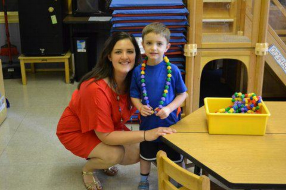 Jacob's First Day of Preschool, September 2011. My first day of my 8th year of teaching.