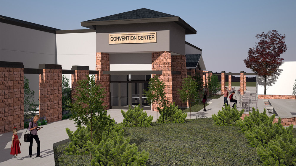 conference center east entrance