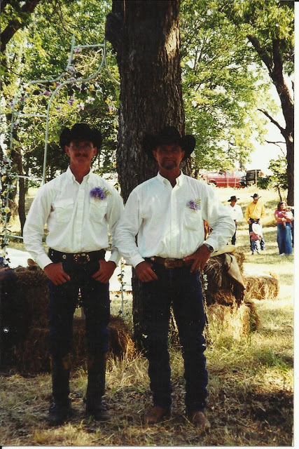 Shy Cowboy and Older Cowboy at our wedding