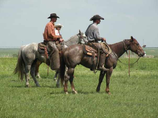 Holding the herd on the Whitmire Ranch with good friend Dwight Bilyk