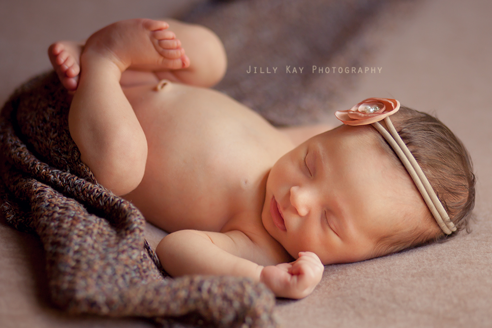 Presley's newborn portrait, one year ago