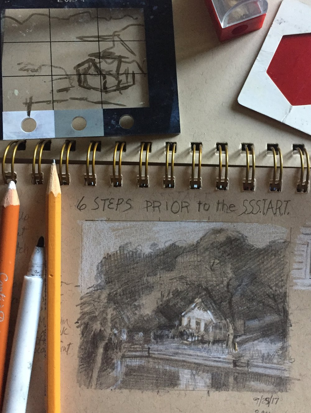 Artists...In the Color & Energy series of workshops, you will learn  how to do small sketches first (& how to do them quicker), 6 Steps before you SSStart. Perfect for beginner to intermediate painters yet advanced painters will benefit as well.