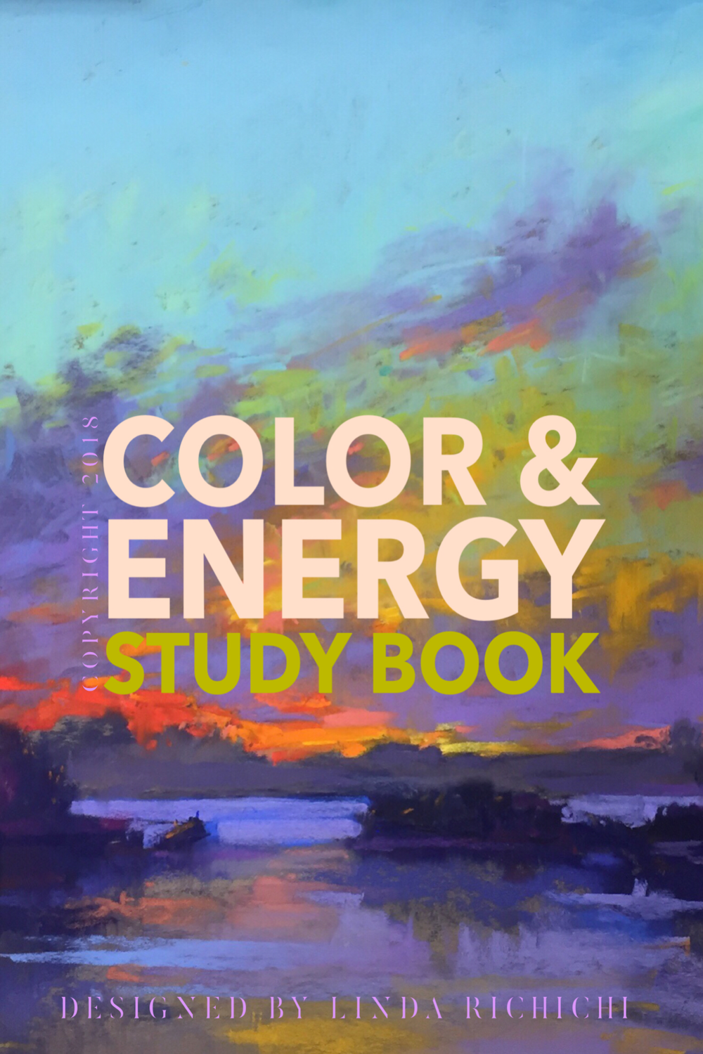 A twenty page book to work out composition, color and energy. There are 10 pages of Canson paper and 10 acetate pages in between each. Instructions are found below on the best ways to use the book.