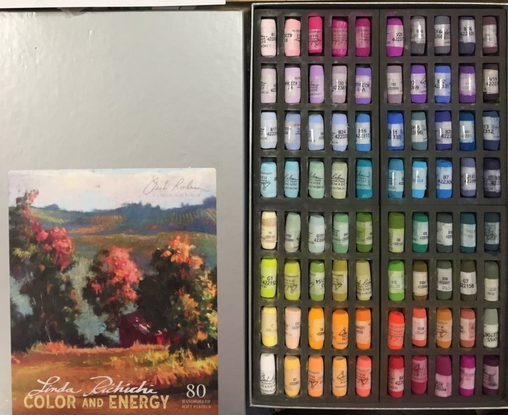 This is the 80 piece Color & Energy set I used in this video. To purchase: Art & Frame  http://www.in2art.com/store/product/182455/Linda-Richichi%27s-Color-%26-Energy-80-Pastel-Set/
