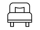1 Twin Bed -