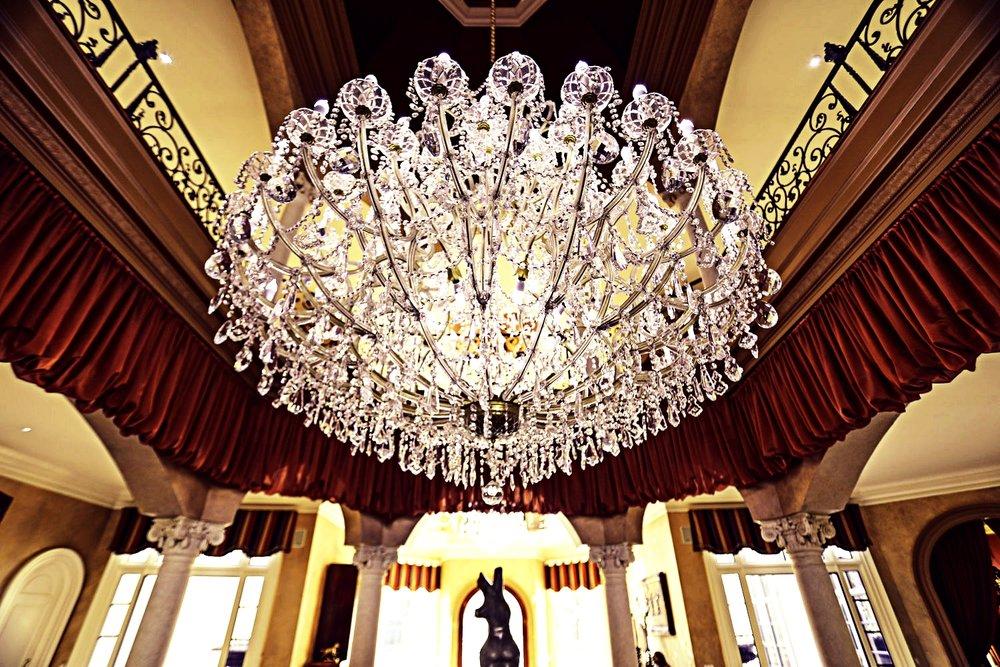 chandelier in foyer