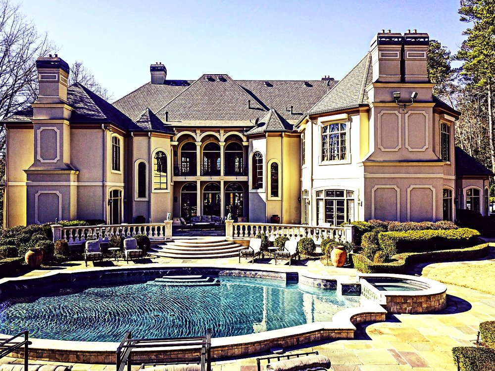 luxurious heated pool