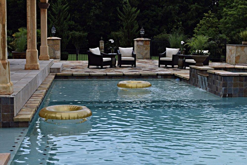 Pool up to 10 feet deep