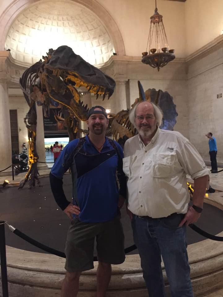 Dinodave with his professor and adviser Paleontologist Jack Horner.