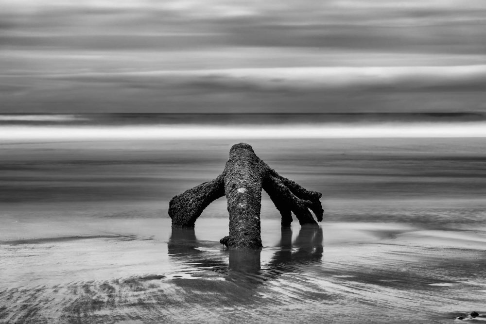 Anchor In The Sand BW.JPG