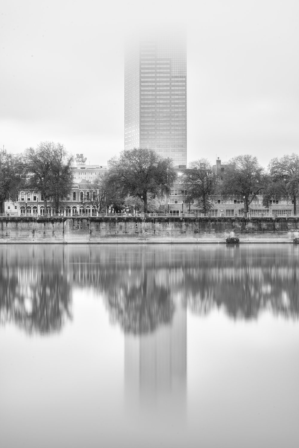 Pink Tower BW Fog.jpg