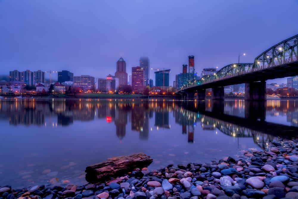 Hawthorne Bridge Blue Hour-HDR-More Light.jpg