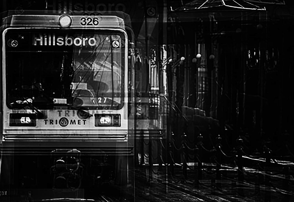 Lightrail_Downtown-Triple Exposure BW.JPG