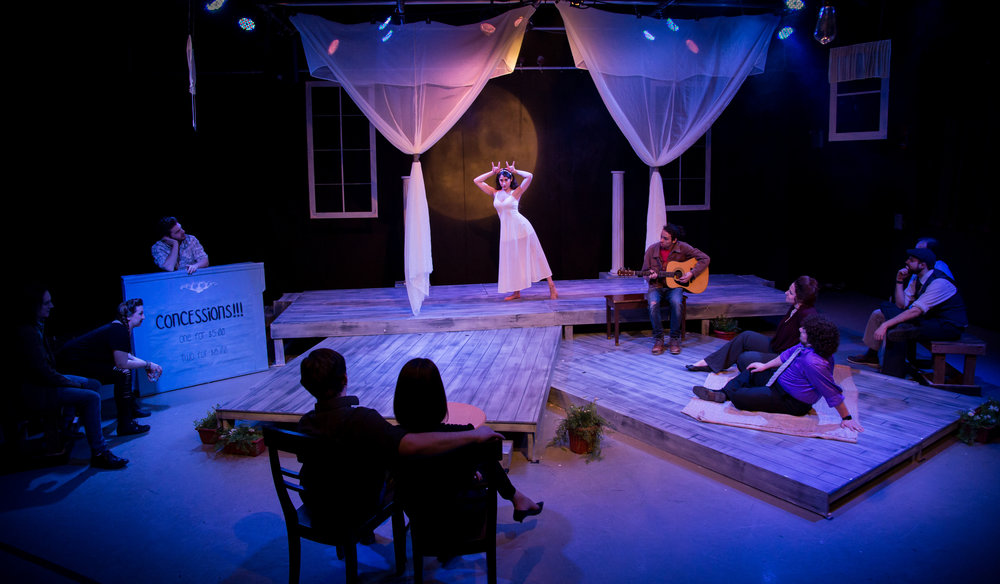 Ensemble in Ophelia Theatre Group's production of The Seagull by Anton Chekhov.  The Seagull was performed at Ophelia Theater in Astoria, New York.  Photography courtesy of  John Robert Hoffman .