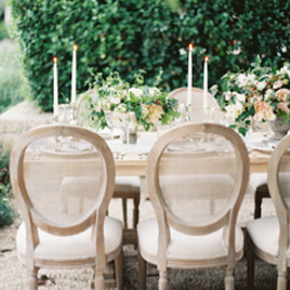 San Ysidro Splendor - A small wedding at San Ysidro Ranch, with elegant details. Flowers by Kelly Kaufman, photography by Kurt Boomeropen gallery