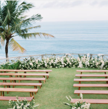Elegance in Bali - An elegant yet tropical wedding set in hues of whites, creams and greens at Khayangan Estate in Bali. Photos by Erich McVeyopen gallery