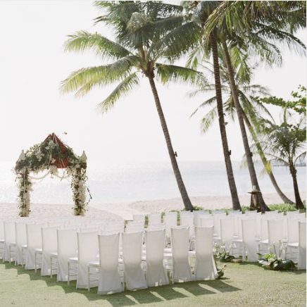 Thai Beachfront - Lotus inspired wedding at the Amanpuri in Phuket, Thailand with flowers by Bows & Arrows and photography by Catherine Mead.open gallery