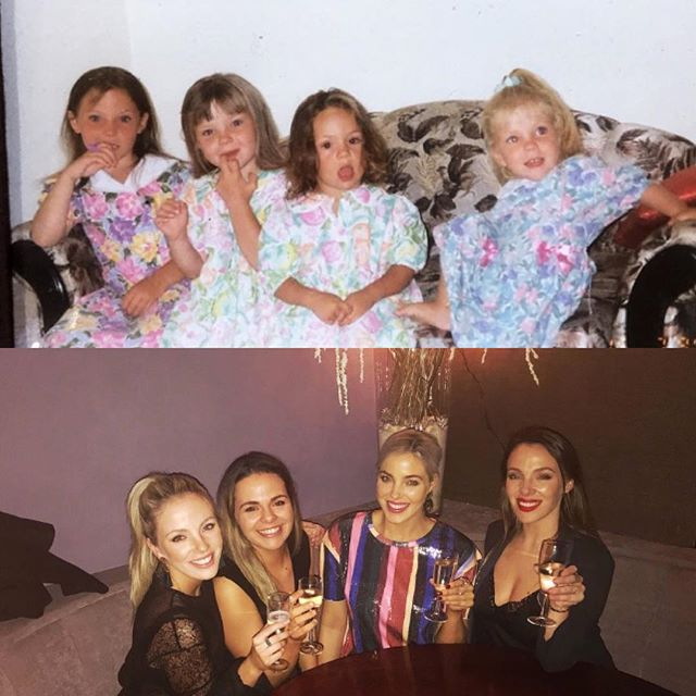 Coming across old pics ☺️ #then and #now #sisters❤️