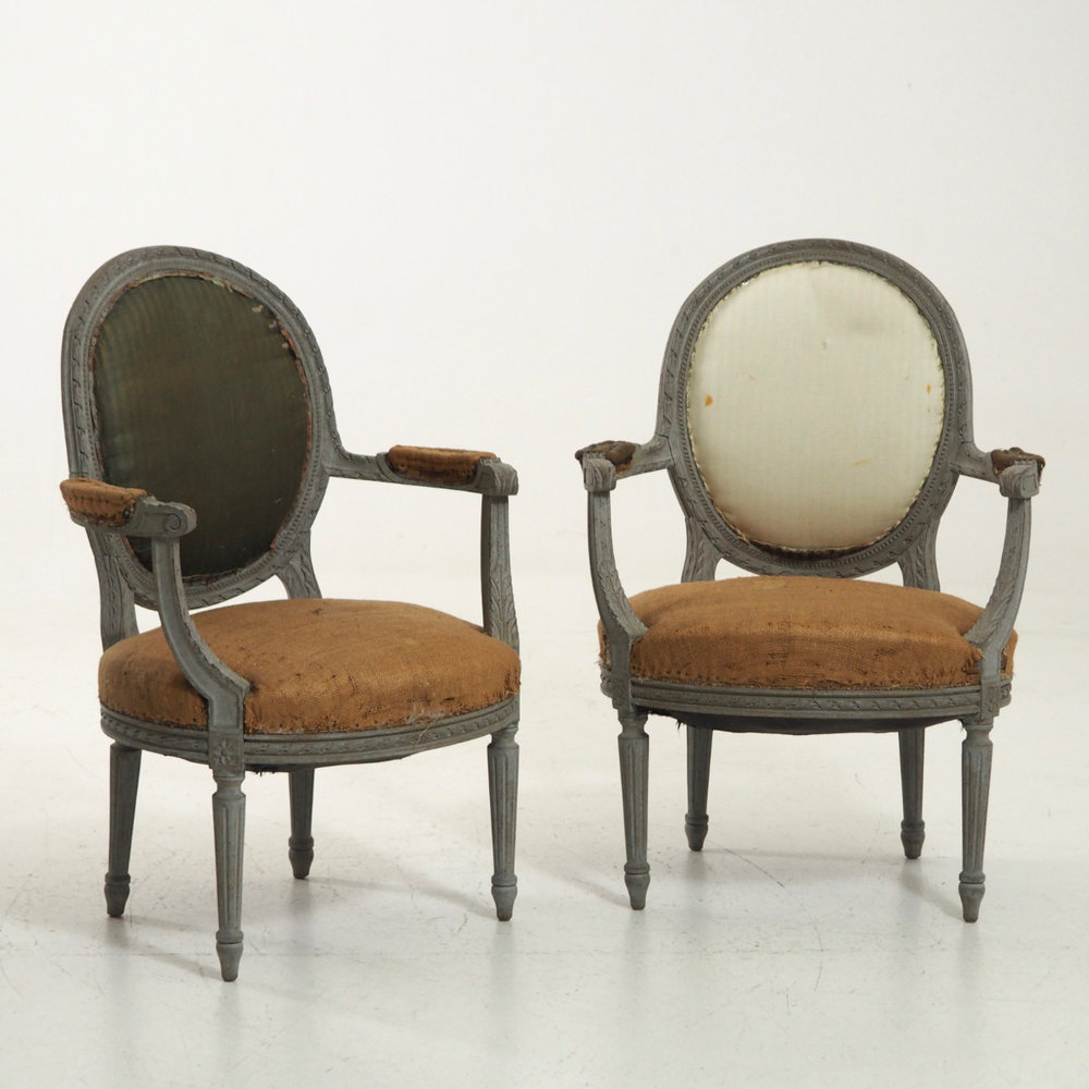 Pair of Gustavian style armchairs. - € 1.400