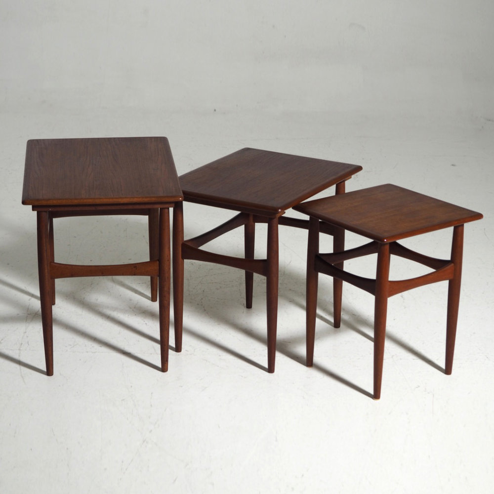 13235 1D Nest Of Tables In Teak, Danish Architect, Circa 1960.