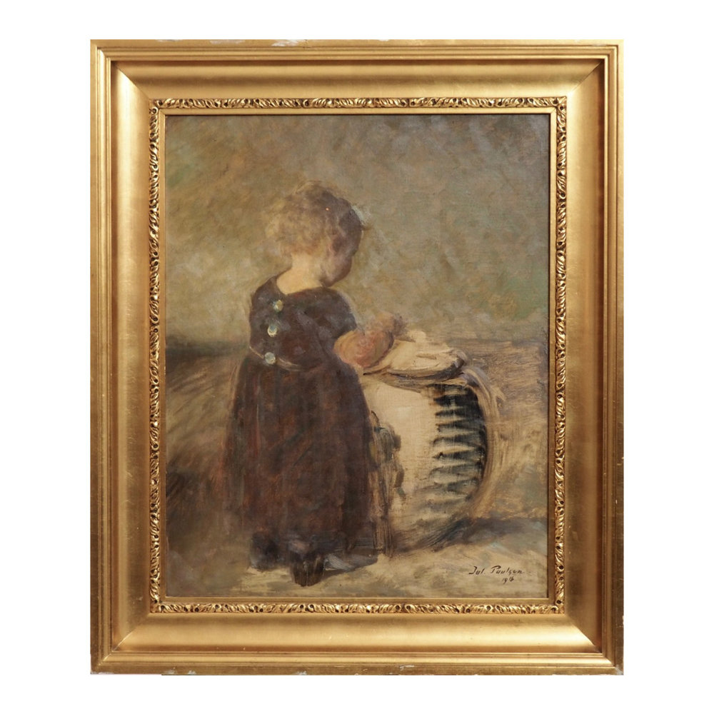 Impressionist painting, signed 1916. - € 2.400