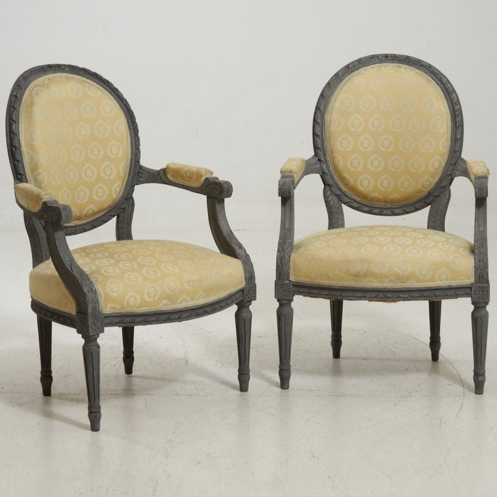 Gustavian style armchairs, 19th C. - € 1.300