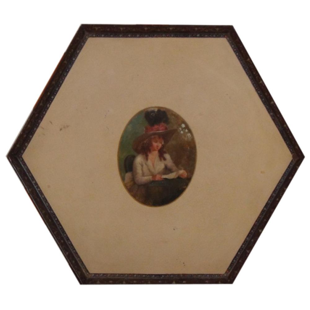 Gustavian painted metal tray, circa 1790. - € 700