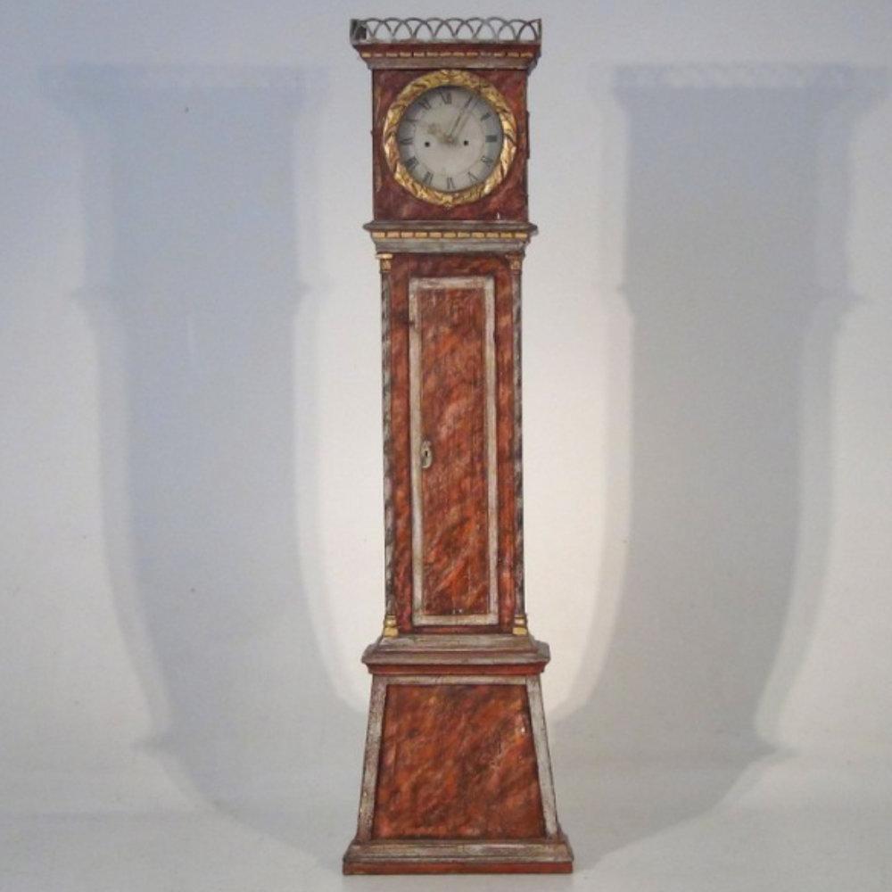 Fine original painted clock, 19th C. - € 1.100