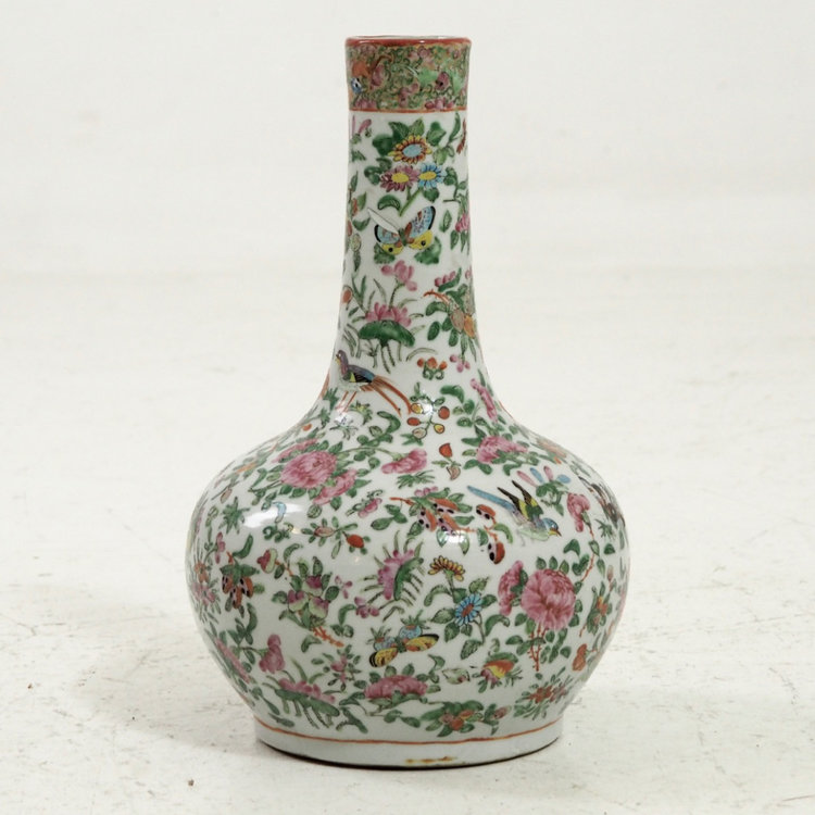 Very Fine Family Rose Chinese Porcelain Vase 19th C Selected