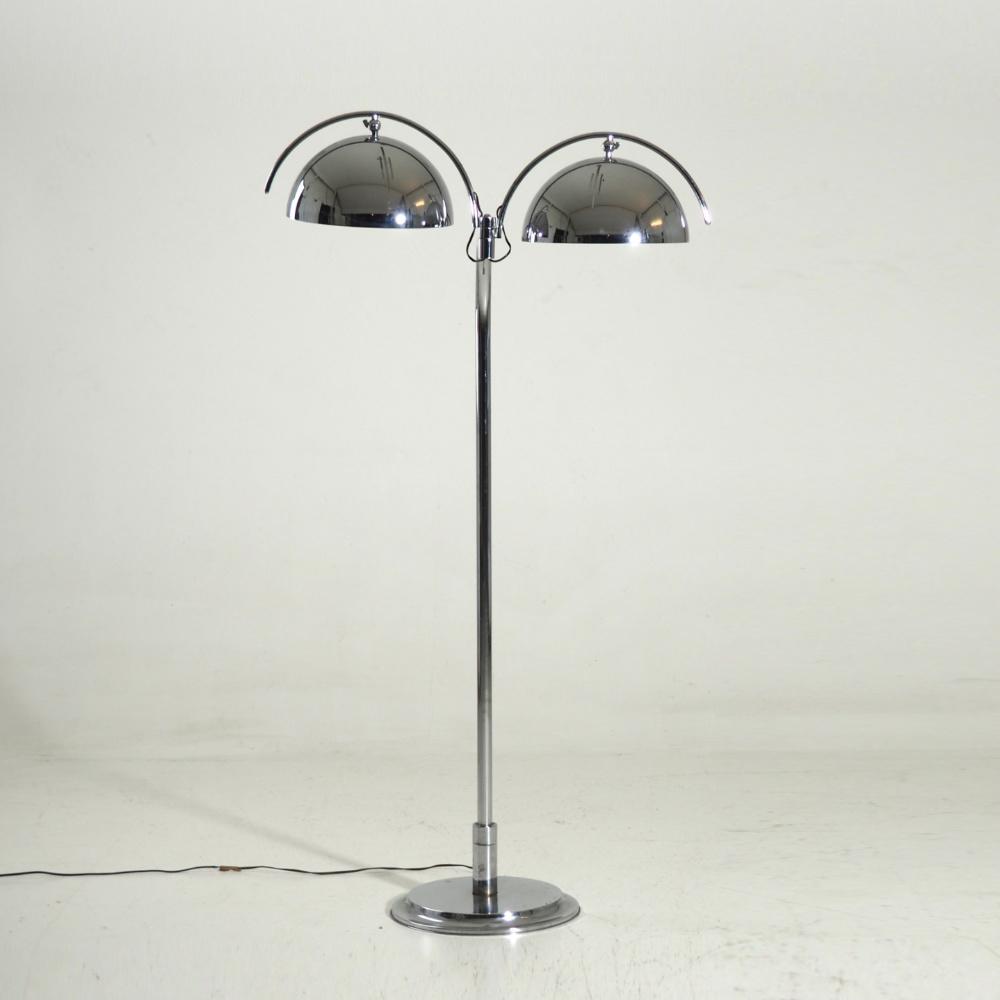 Italian lamp in chromed steel, 60's - € 2.400