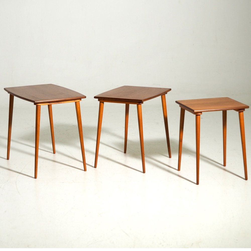 Fine nest of tables in teak, 60´s. - € 900