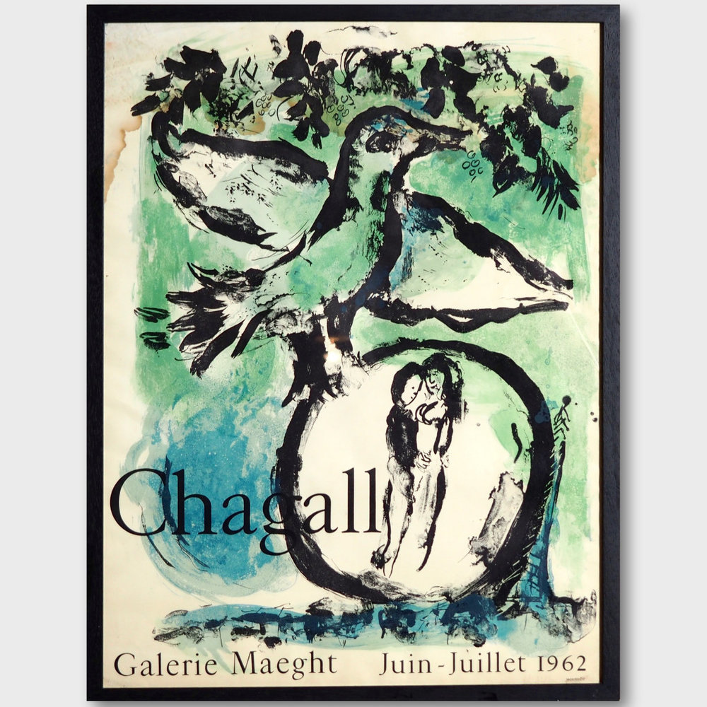 Chagall poster, Galerie Maeght 1962 - € 300