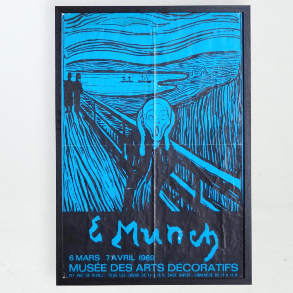 Rare poster. Edward Munch. 1969. - € 650