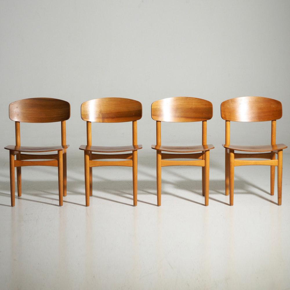Børge Mogensen chairs in teak, 1960´s. - € 1.200