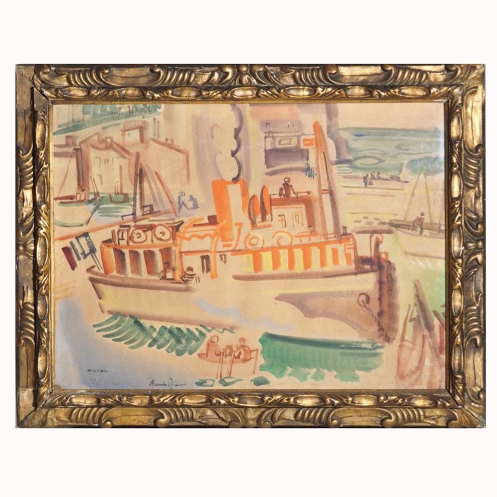 Painting, Alexander Robinson. - € 1.000