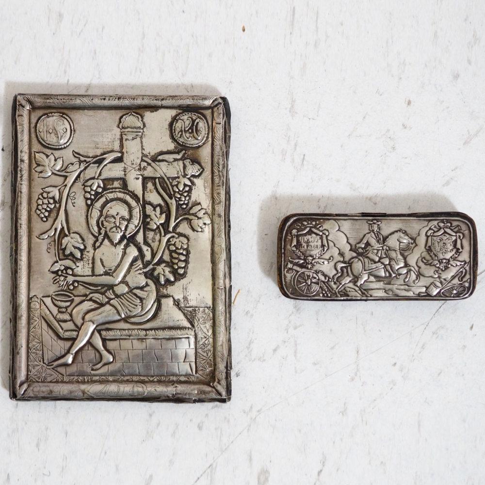 Russian silver Icon, 19th C. - € 2.000