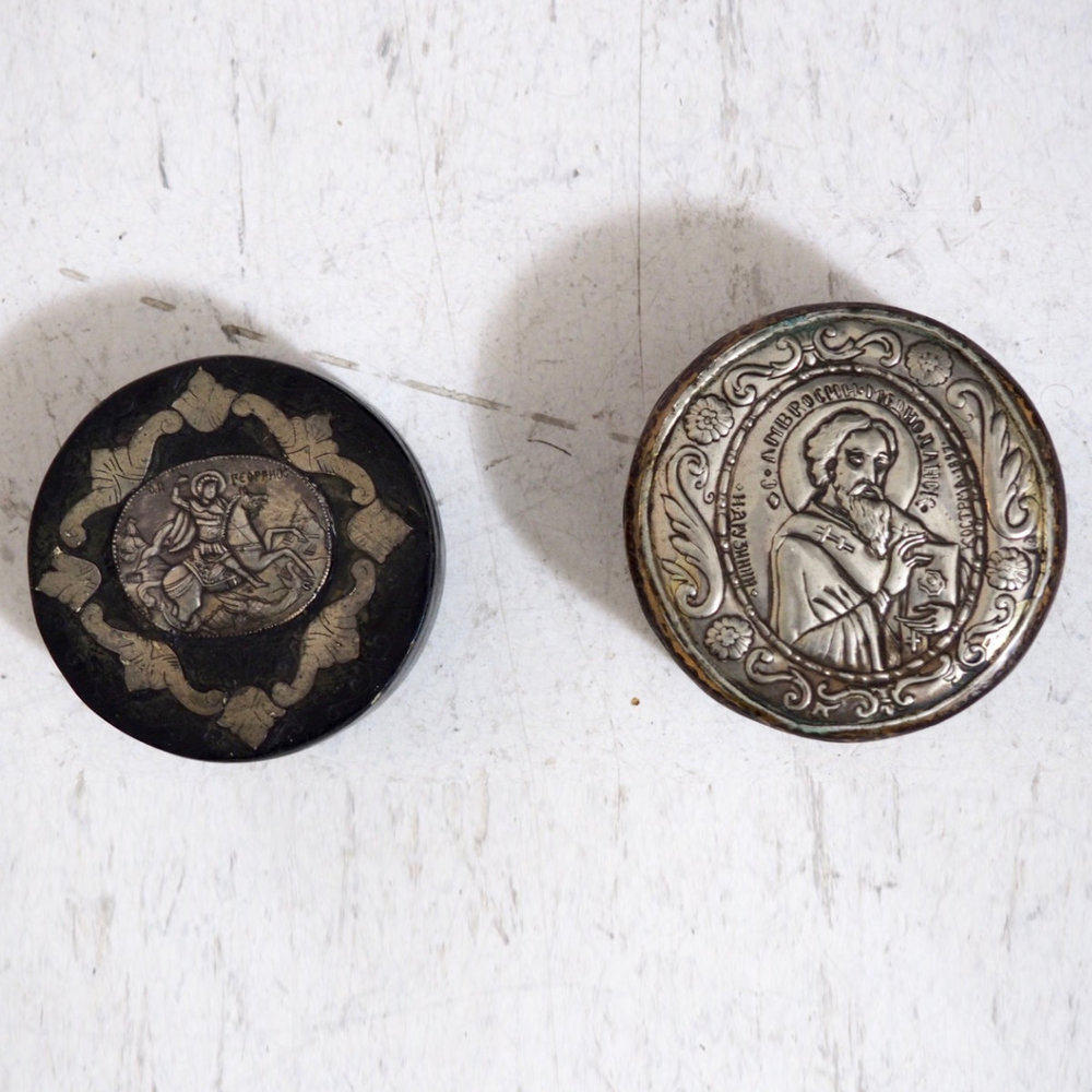 Russian silver and lacquer box, 19th C. - € 1.100