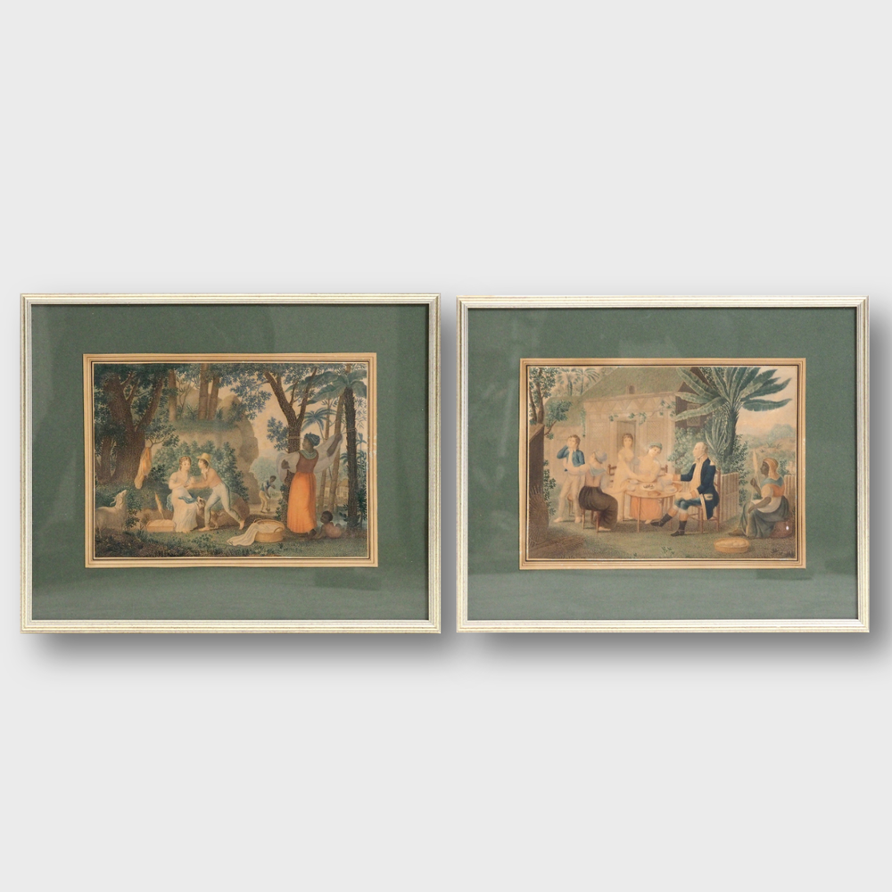 Pair of lithographys, 19th C. - € 1.000