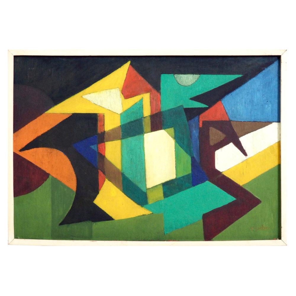 "Painting ""Concrete"" art, signed. - € 1.000"